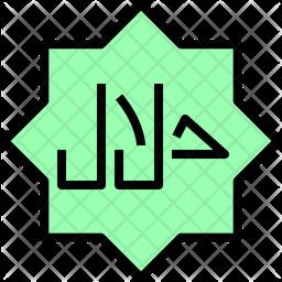 Halal sign Icon