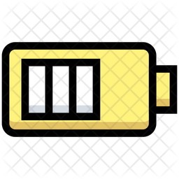Half Battery Icon Of Colored Outline Style Available In Svg Png Eps Ai Icon Fonts