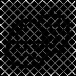 Half litchi Line Icon