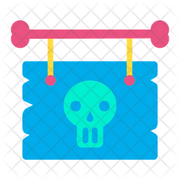 Halloween Sign Board Icon
