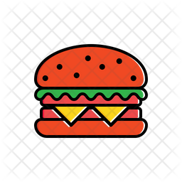 Hamburger Icon Of Colored Outline Style Available In Svg Png Eps Ai Icon Fonts