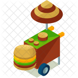 Hamburger stall Icon