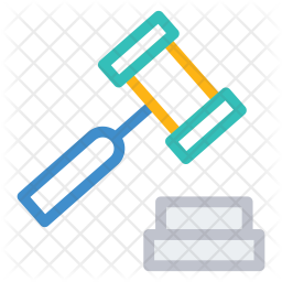 Hammer Colored Outline Icon