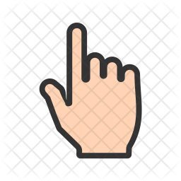 Hand Icon Of Colored Outline Style Available In Svg Png Eps Ai Icon Fonts