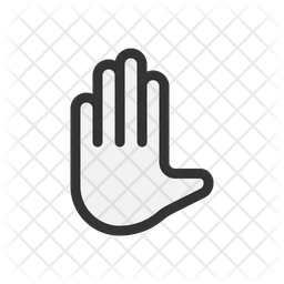 Hand gesture Colored Outline Icon