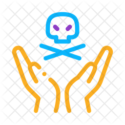 Hand Hold Skull Icon