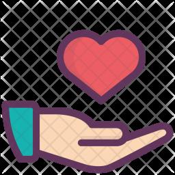 Hand, Love, Give, Gesture, Valentine, Heart, Like Icon