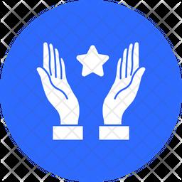 Hand Raiz Pray Rounded Icon
