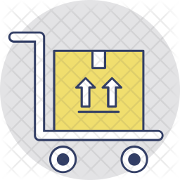 Hand Trolley Colored Outline Icon