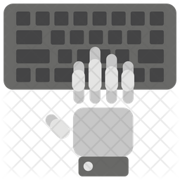 Hand Typing Icon