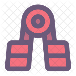Handgrip Colored Outline Icon