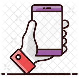 Handheld Phone Colored Outline Icon
