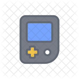 Handhold game Colored Outline Icon