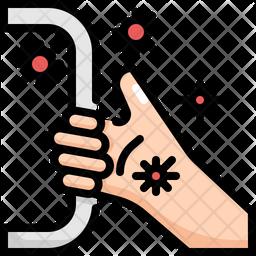 Handle Virus Transmission Icon