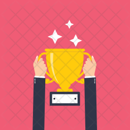 Hands Holding Trophy Icon