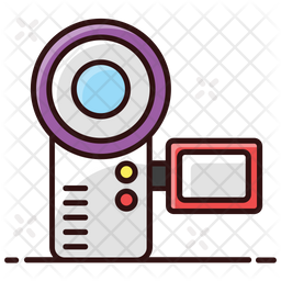 Handycam Colored Outline Icon