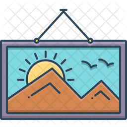 Hanging Colored Outline Icon