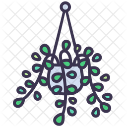 Hanging Plant Colored Outline Icon