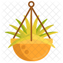 Hanging Plant Flat Icon