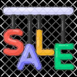 Hanging Sale Alphabets Flat Icon