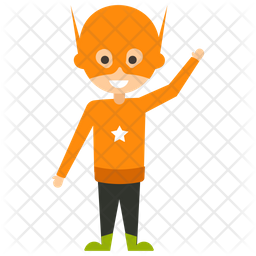 Hank Pym Flat Icon