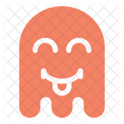 Happy Flat  Emoji Icon