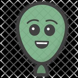 Happy Balloon Emoji Icon