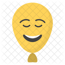 Happy Balloon Face Emoji Icon