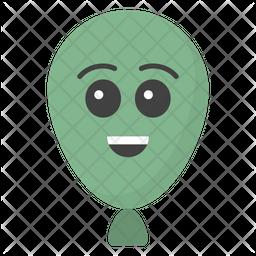 Happy Balloon Face Emoji Icon