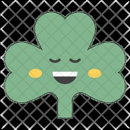 Happy Coriander Emoji Icon