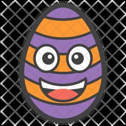 Happy Egg Smiley Icon