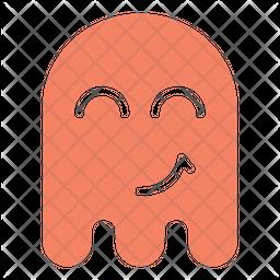 Happy ghost Flat  Emoji Icon
