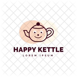 Happy Kettle Colored Outline  Logo Icon
