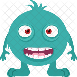 Happy Monster Flat Icon