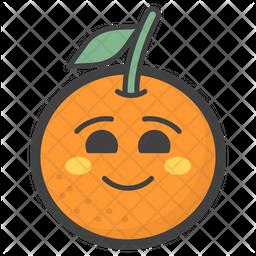 Happy Orange Emoji Icon