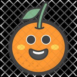 Happy Orange Face Emoji Icon