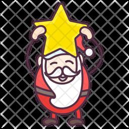 Happy Santa Claus Icon