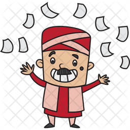 Happy Treasurer Sticker Icon