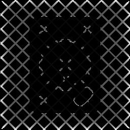Hard Disk Glyph Icon