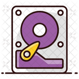 Hard Disk Colored Outline Icon