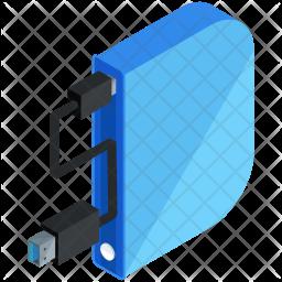 Hard-disk Isometric Icon