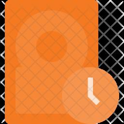 Hard-disk backup Flat Icon