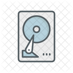 Hard Drive Colored Outline Icon