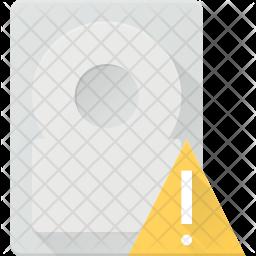 Harddisk alert Icon