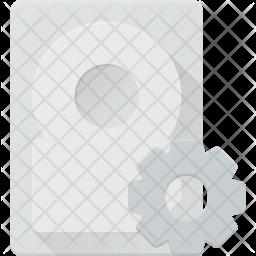 Harddisk settings Icon