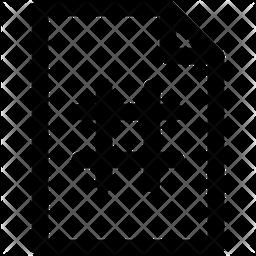 Hashtag File Icon