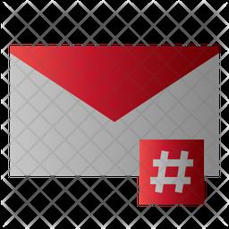 Hashtag Mail Icon