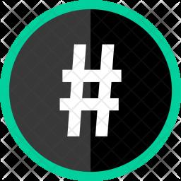 Hastag Icon