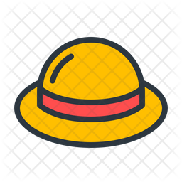 Hat Colored Outline Icon