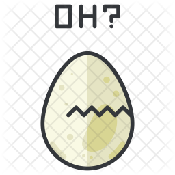 Hatching egg Colored Outline Icon